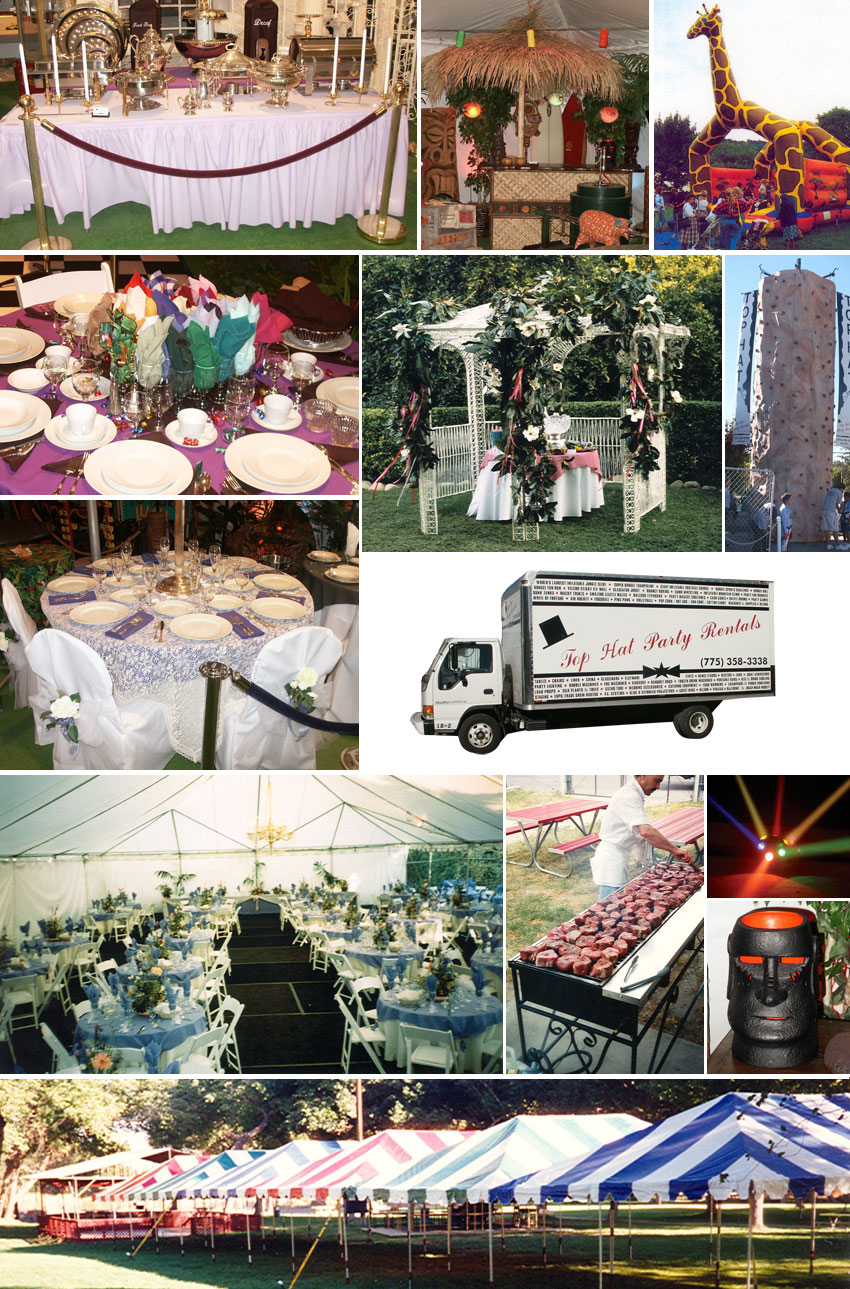 Welcome To Top Hat Party Rentals Northern Nevadas Most Complete Source For Event Rental Equipment Services